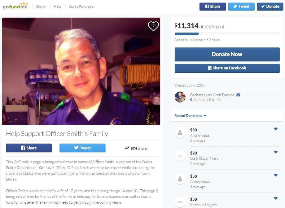 GoFundMe page created for Dallas officer, Port Arthur native killed