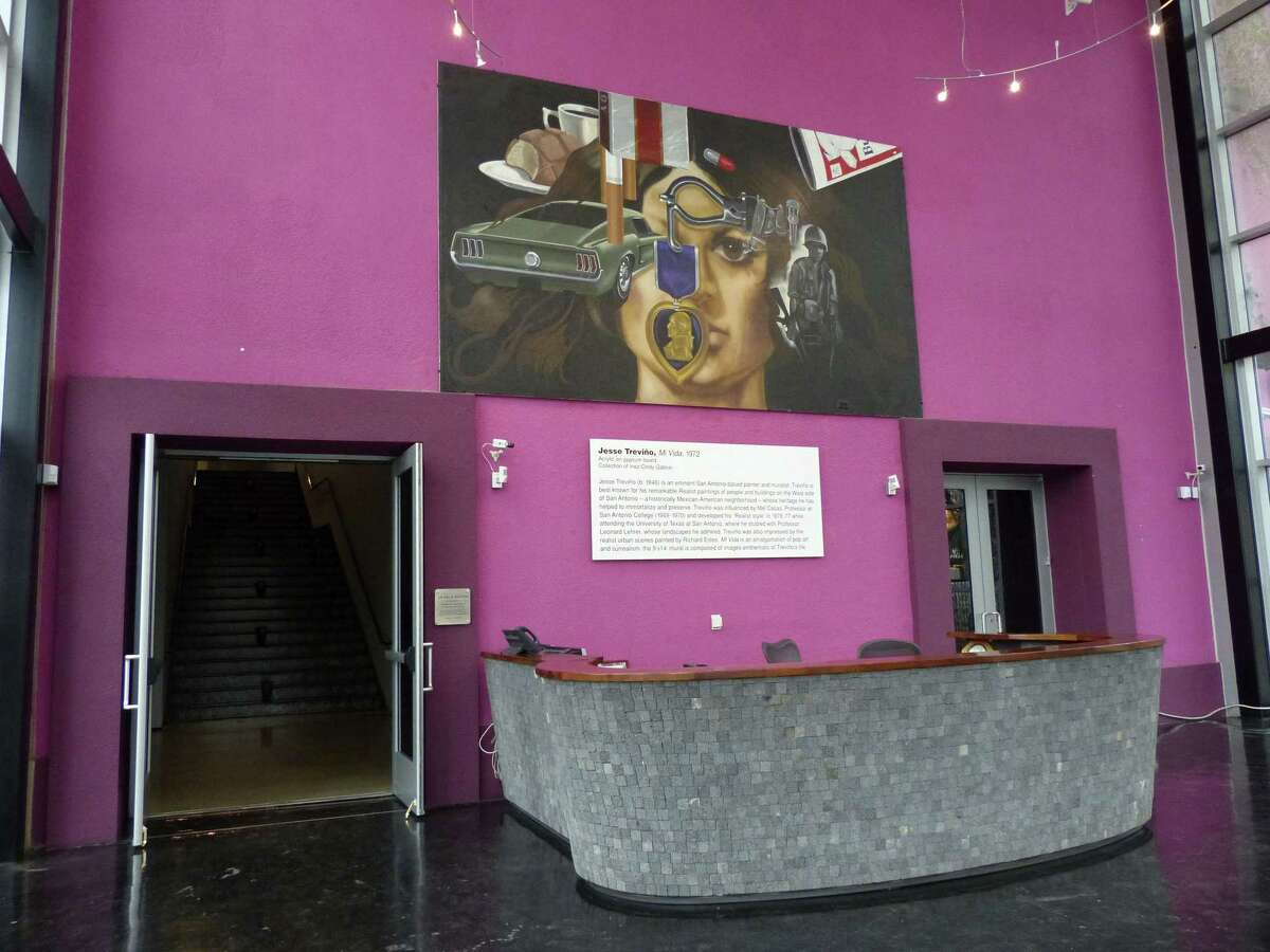 """The artwork by Jesse Trevino, entitled """"Mi Vida,"""" will soon be removed from the building that was the Museo Alameda. Feb. 19, 2013."""