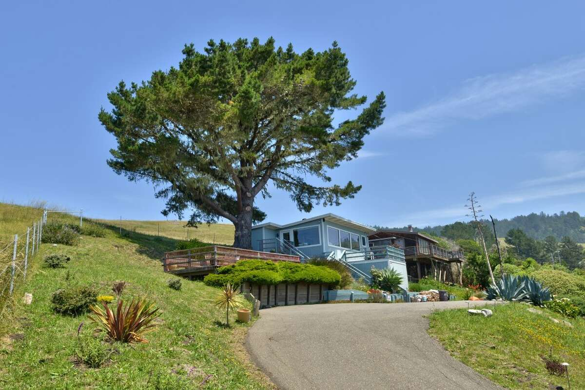 Perched on a hillside overlooking the dramatic spot where the Russian River pours into the Pacific Ocean, this one-bedroom in Jenner feels as if it's on the edge of the world. It's on the market for $1.195 million.
