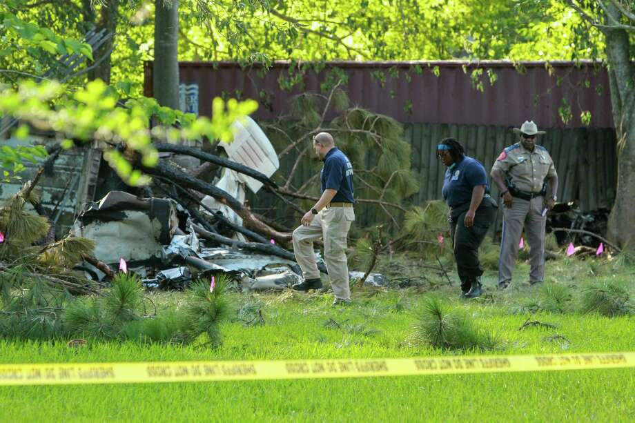 Four people died on Friday after a plane crashed and caught fire near West Houston Airport. Photo: Gary Fountain, Gary Fountain/For The Chronicle / Copyright 2016 Gary Fountain