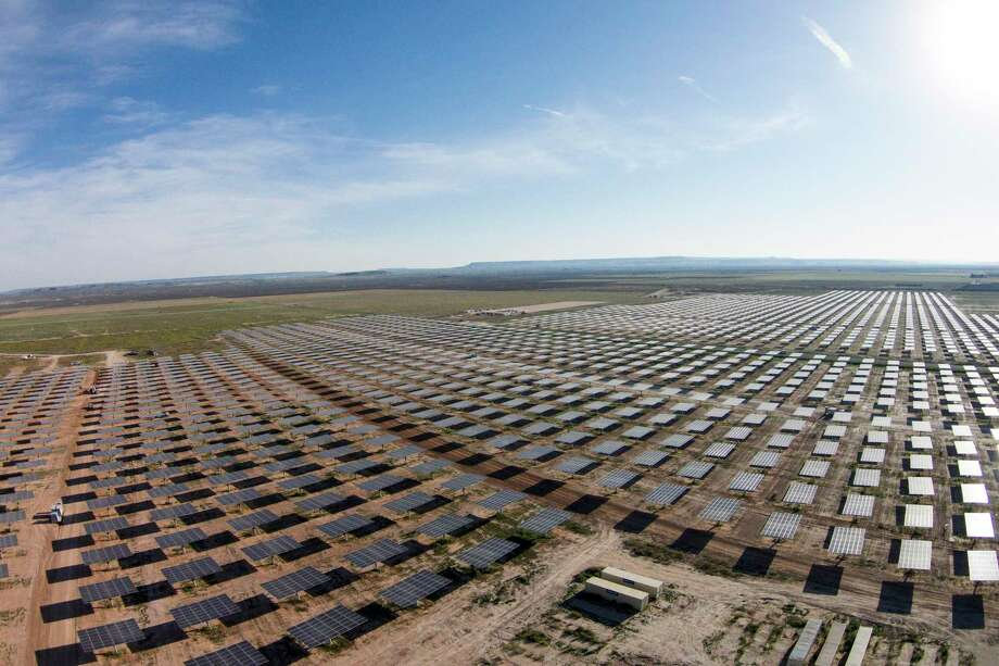OCI Solar Power is building the 110-megawatt, Alamo 6 solar farm in Pecos County in West Texas to provide renewable power to the city of San Antonio. OCI is selling the solar farm for $385 million to an undisclosed buyer. Photo: OCI Solar Power