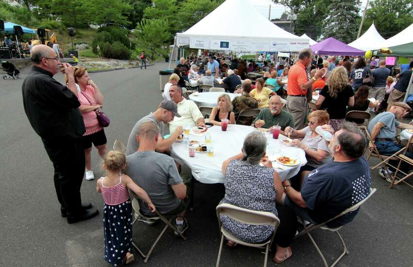 St. Mary's Summer Festival held at St. Mary's Church grounds on Elizabeth Street in Derby, Conn., on Friday July 8, 2016. There is music played by DJ Megawatt along with food, crafts, a giant raffle and fun & games for the kids. Handicapped parking is behind the rectory.