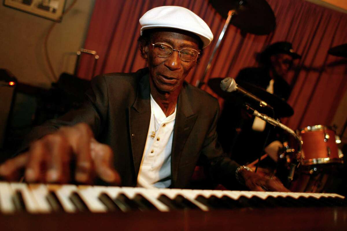 Pianist Earl Gilliam plays his monthly gig at the Big Easy in 2008 in Houston.