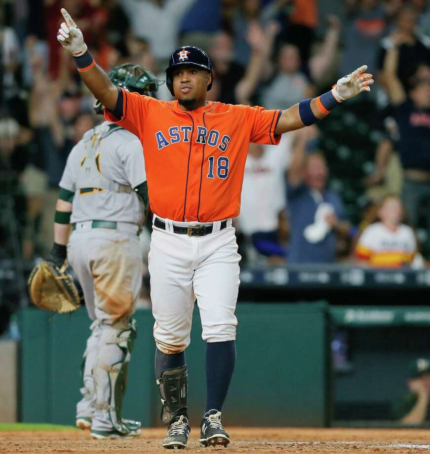 Free agent infielder Luis Valbuena, who spent the last two seasons with the Astros, has agreed to a deal with the Los Angeles Angels. Photo: Bob Levey, Getty Images / 2016 Getty Images