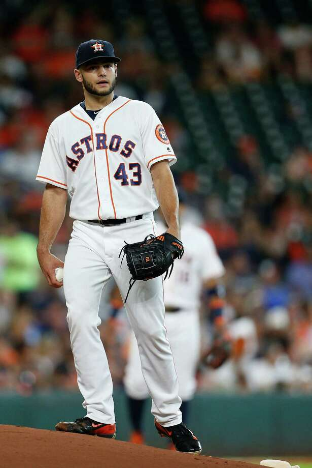 Houston Astros starting pitcher Lance McCullers (43) reacts after giving up a home run in the first inning of an MLB baseball game at Minute Maid Park, Saturday, July 9, 2016, in Houston. Photo: Karen Warren, Houston Chronicle / © 2016 Houston Chronicle