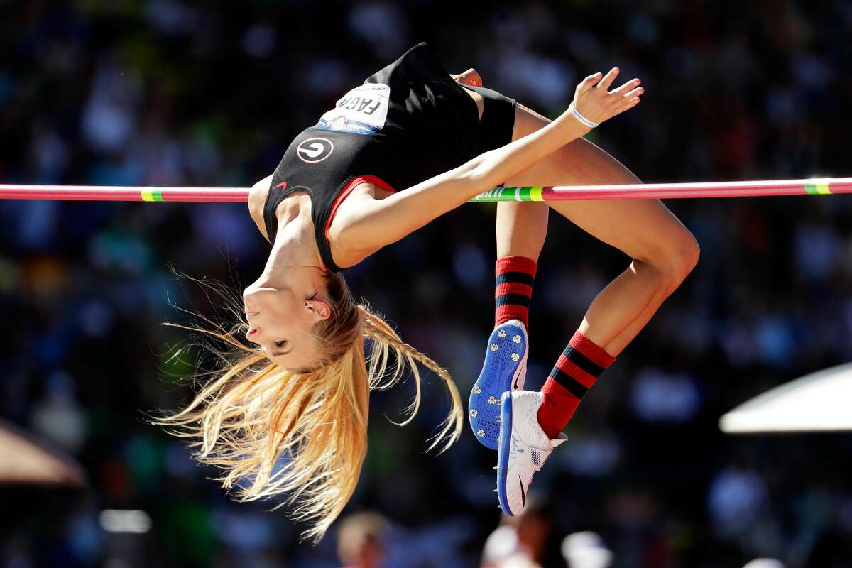 Madeline Fagan competes in Women's High Jump qualifications during the 2016 U.S. Olympic Track & Field Team Trials at Hayward Field on July 1, 2016 in Eugene, Oregon. (Photo by Andy Lyons/Getty Images)