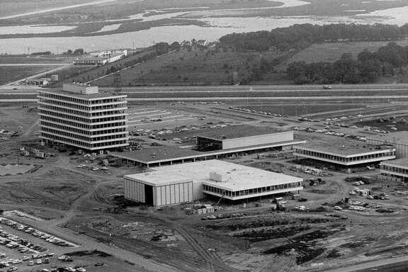 (1963) aerial of NASA Manned Space Center.  Sam C. Pierson Jr./ Houston Chronicle