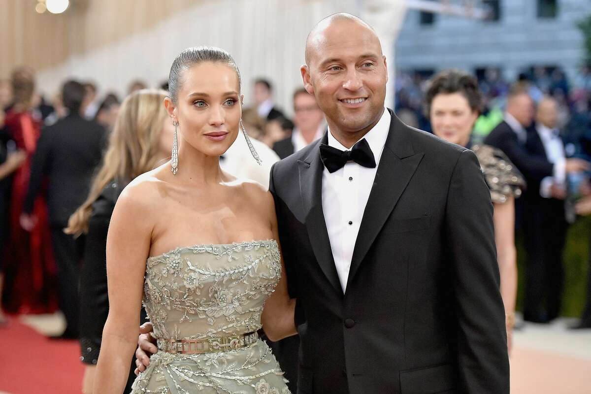 Hannah Davis Jeter made the 26-year-old model his wife on Saturday. The two had been dating since 2012 and got engaged last year.