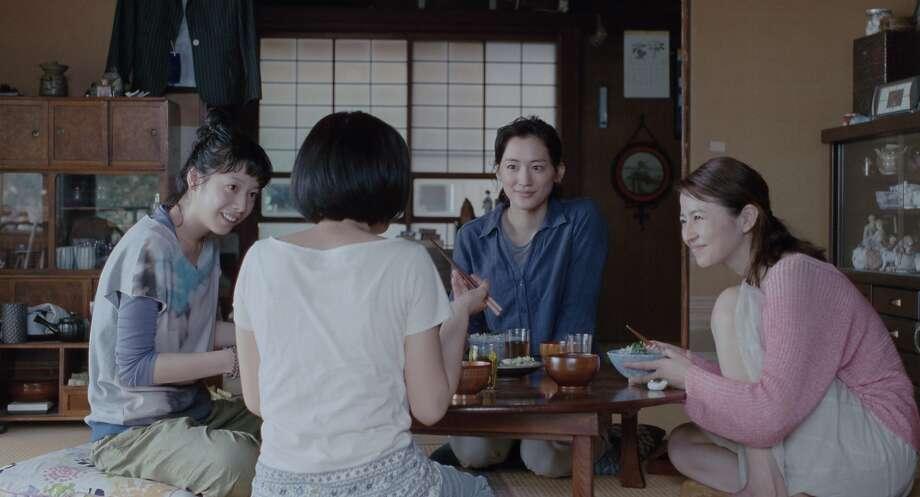 """Left to right: Chika (Kaho), Suzu (Suzu Hirose), Sachi (Haruka Ayase) and Yoshino (Masami Nagasawa) in """"Our Little Sister."""" (Photo by Mikiya Takimoto, Courtesy of Sony Pictures Classics) Photo: Mikiya Takimoto, Sony Pictures Classics"""