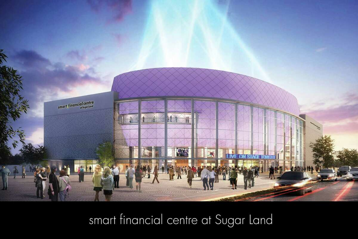 Conceptual art of the Smart Financial Centre in Sugar Land.