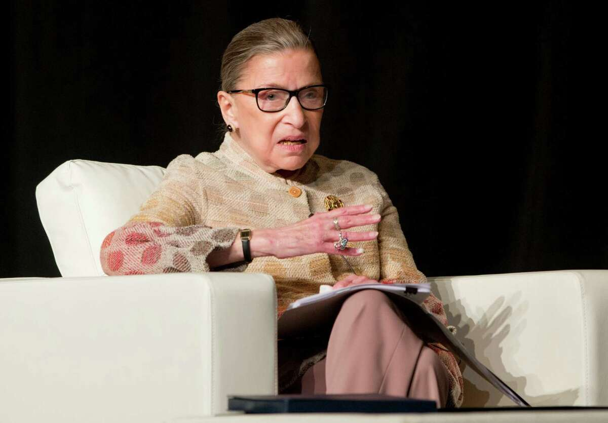 Supreme Court Justice Ruth Bader Ginsburg shared the prize in 2017 with ...