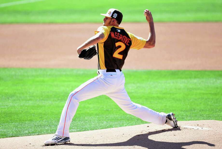 SAN DIEGO, CA - JULY 10:  Joe Musgrove of the U.S. Team pitches during the SiriusXM All-Star Futures Game at PETCO Park on July 10, 2016 in San Diego, California. Photo: Harry How, Getty Images / 2016 Getty Images