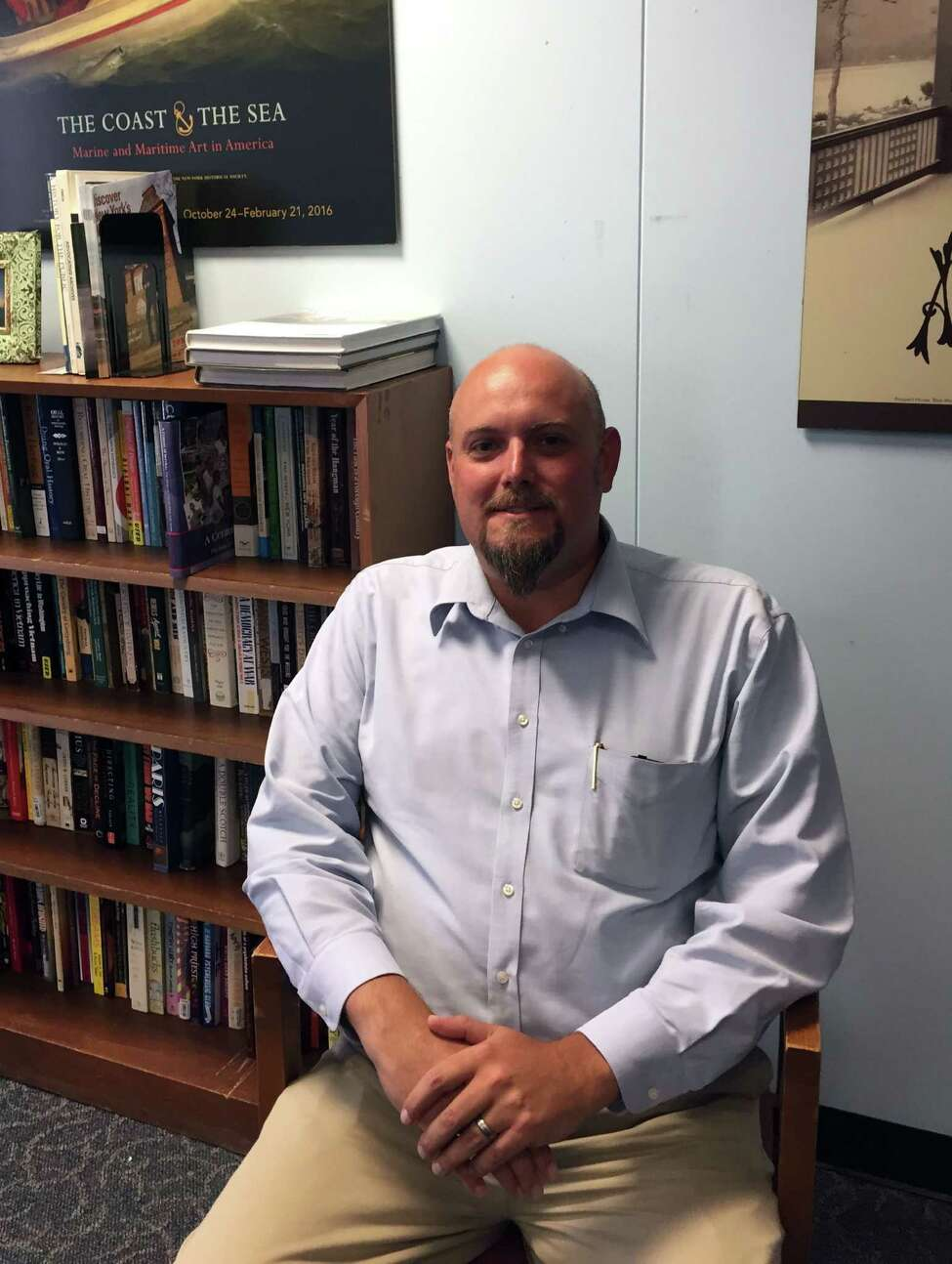 Newly appointed State Historian Devin Lander at his office at the State Museum on Wednesday, July 6, 2016, in Albany, N.Y. (Paul Grondahl/Times Union)