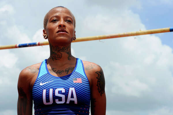 Port Arthur native Inika McPherson will be representing the United States in the Olympics this summer competing in the high jump.  Photo taken Saturday 7/9/16 Ryan Pelham/The Enterprise