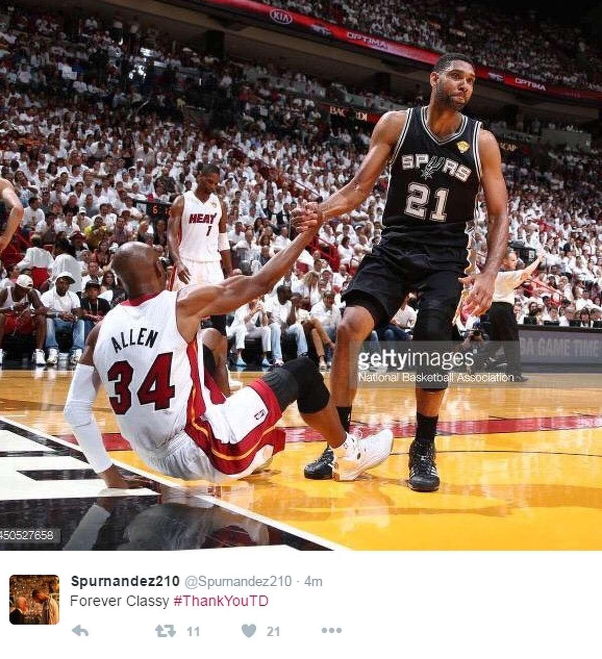 Reactions to Duncan retirement.