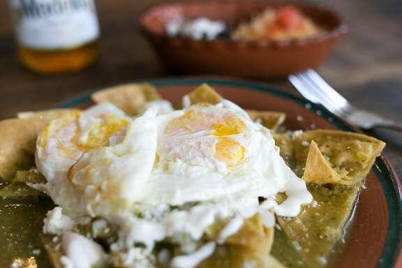 Chilaquiles at El Buen Comer in S.F.