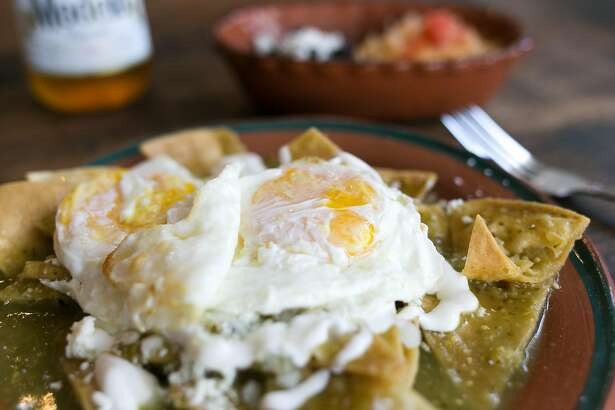 Chilaquiles at El Buen Comer in S.F.