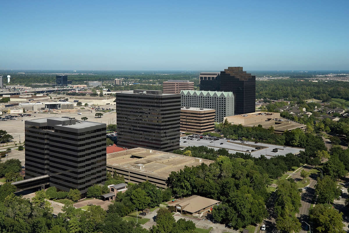 New ownership was announced for Greenspoint Place, the six-building complex previously occupied by Exxon Mobil Corp. (Courtesy of Transwestern, Copyright Joe Aker)