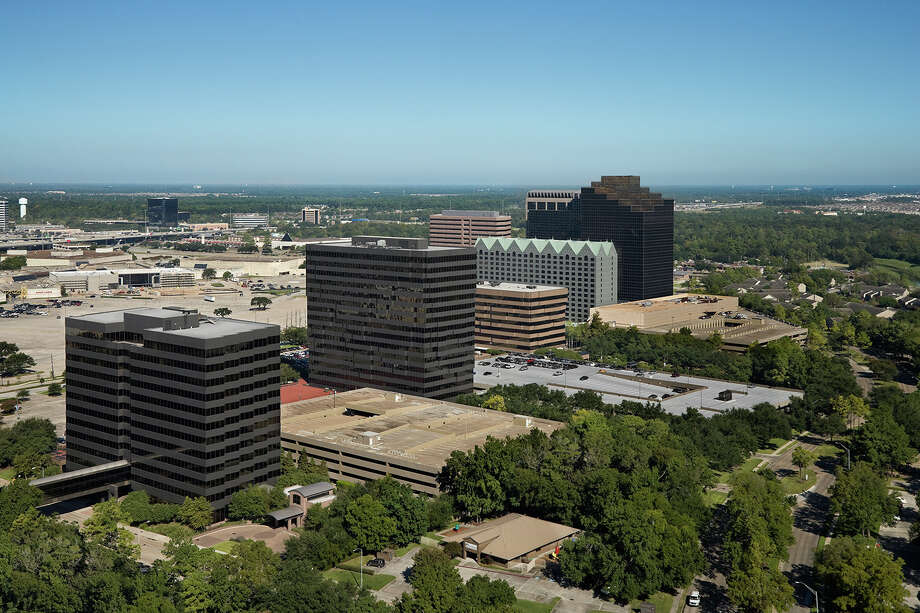 New ownership was announced for Greenspoint Place, the six-building complex previously occupied by Exxon Mobil Corp. (Courtesy of Transwestern, Copyright Joe Aker) / 2010 AKER / ZVONKOVIC PHOTOGRAPHY