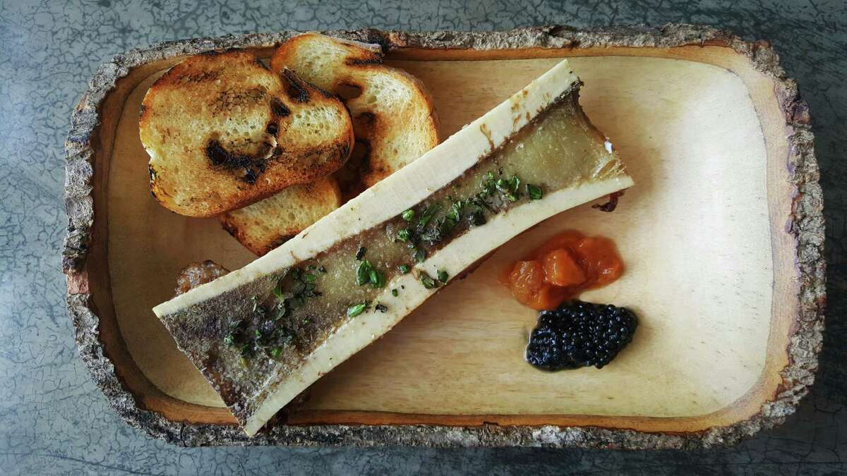 Bone marrow with toast on the new menu at Wooster's Garden from chef Brandon Silva.