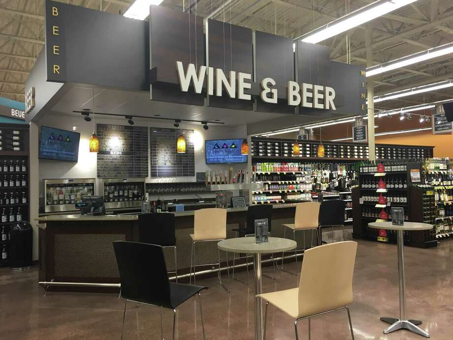 The Heights Kroger, 1035 North Shepherd, has just opened a new Cork &Tap beer and wine bar. Photo: Kroger