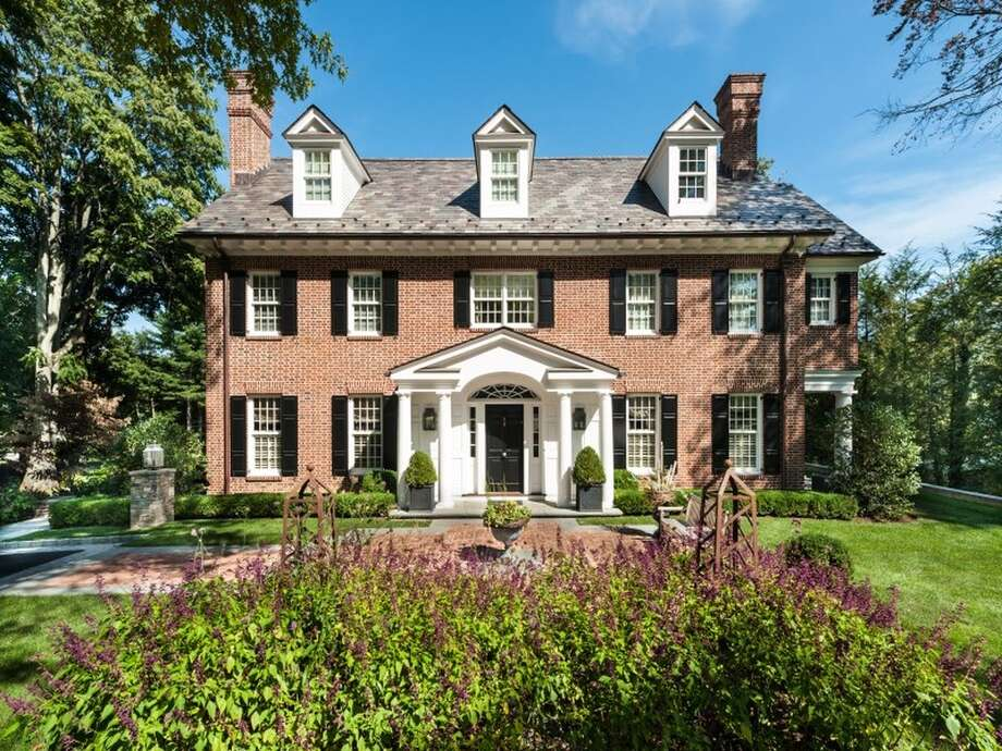 Georgian 77 Maple Ave, Greenwich, CT 06830 6 beds 8 baths 6,180 sqft Features: Outdoor terraces and courtyards.  A wide center entrance hall is flanked by living and dining rooms, both with fireplaces View full listing on Zillow Photo: Georgian, Zillow