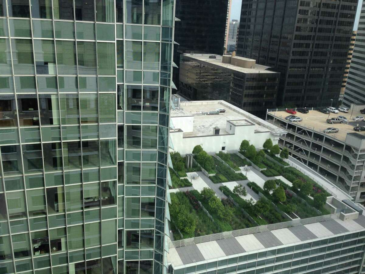 A landscaped skygarden terrace at BG Group Place is one of the sustainable features of Hines' LEED Platinum certified building at 811 Main in downtown Houston.