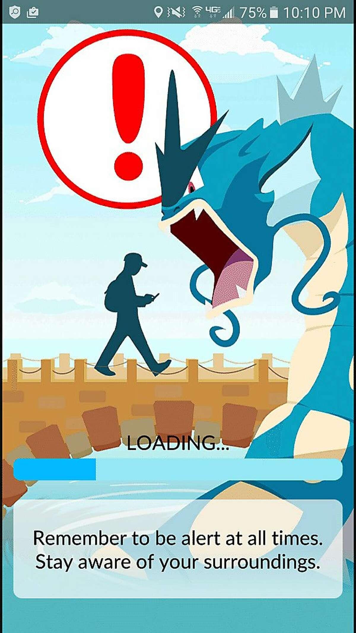 Pokemon Go's loading screen. MUST CREDIT: Screenshot