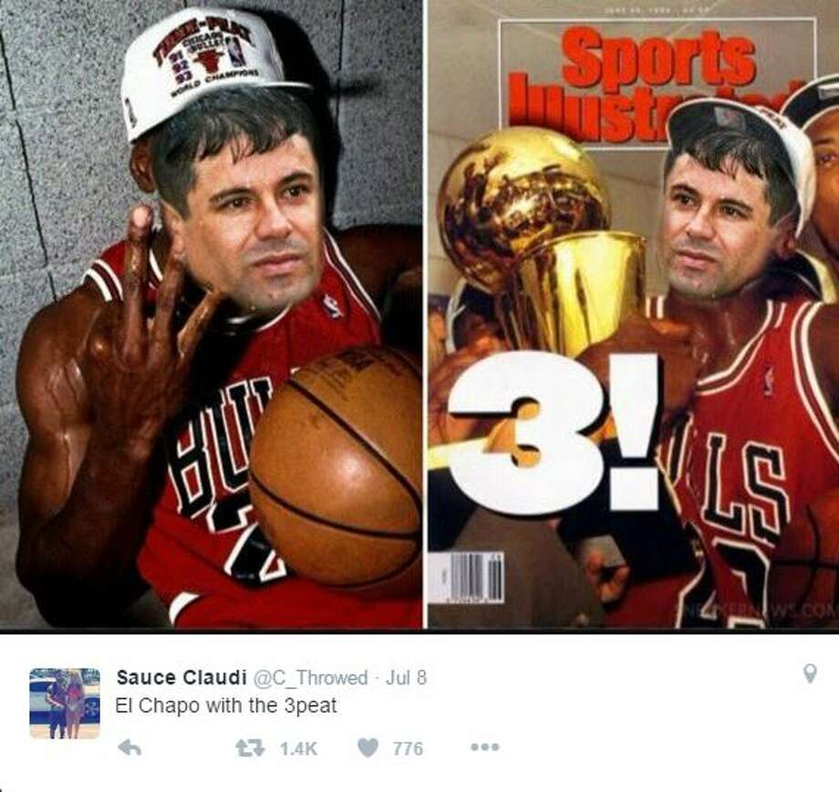 Contrary to internet rumors, El Chapo is still behind bars. The internet, however, is prepared for a three-peat. Photo: Twitter