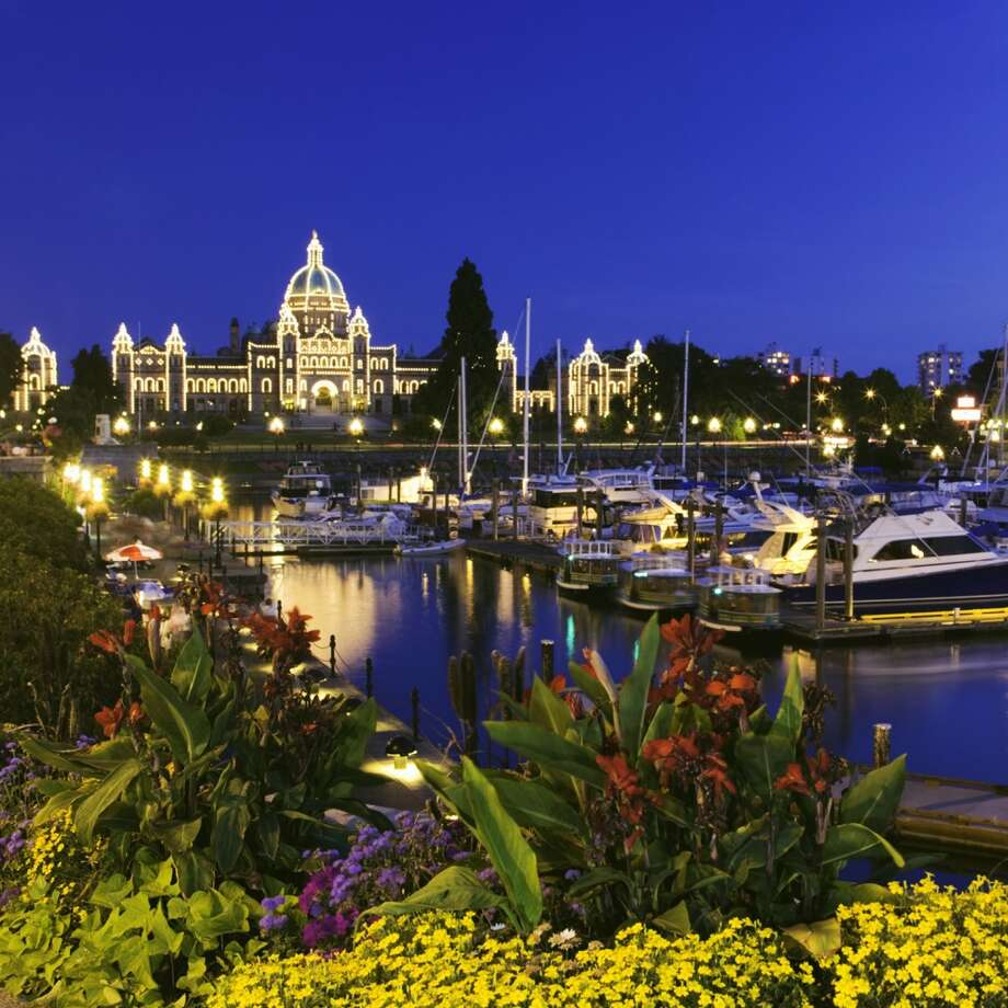 The stately Parliament Building looms over Victoria.  The capital of British Columbia will see something unprecedented in North America.  The Green Party will be part of B.C.'s next government, in coalition with the left-leaning New Democratic Party.  The two parties will hold a bare majority 44 seats in the British Columbia Legislature. Photo: Getty Images