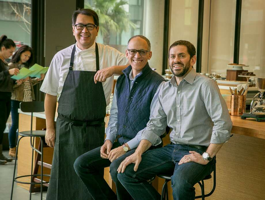 Chef Dave Cruz (left), Eric Lilavois and John DiFazio of Little Gem in San Francisco. Photo: John Storey John Storey