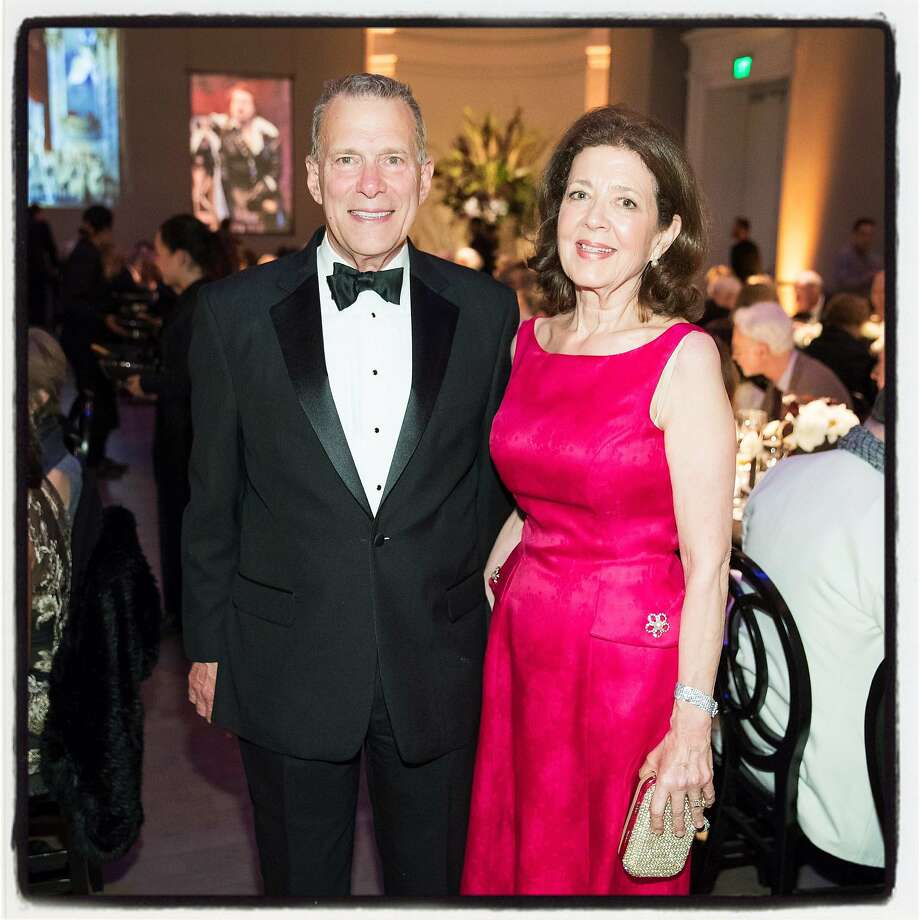 S.F. Opera General Director Emeritus David Gockley and his partner, Linda Kempner, at the dinner-concert in his honor. Photo: Drew Altizer, Special To The Chronicle