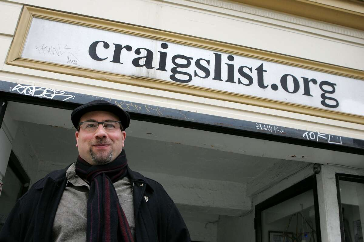 FILE -- Craigslist founder, Craig Newmark, poses in front of the Craigslist office March 21, 2006 in San Francisco, California. Craig Newmark, a former computer programmer, started craigslist.org in 1995 as an e-mailed dispatch to friends of local San Francisco jobs and apartment vacancies. Newmark is now donating $20 million to The Markup, a news site seeking to investigate technology and its effect on society.