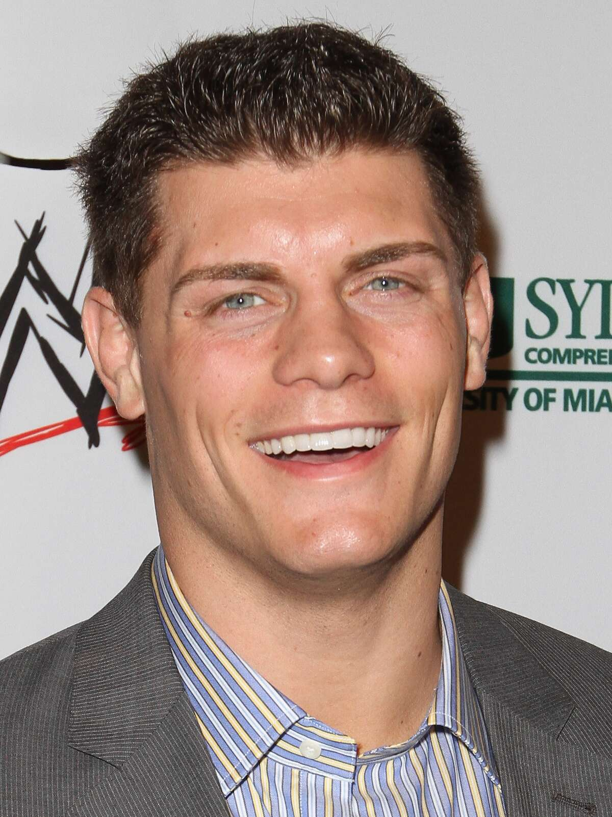Former WWE star Cody Rhodes, who lives in Dallas, is shown at a WrestleMania event in Miami Beach in 2012. Keep clicking to see other wrestling stars with Texas ties.