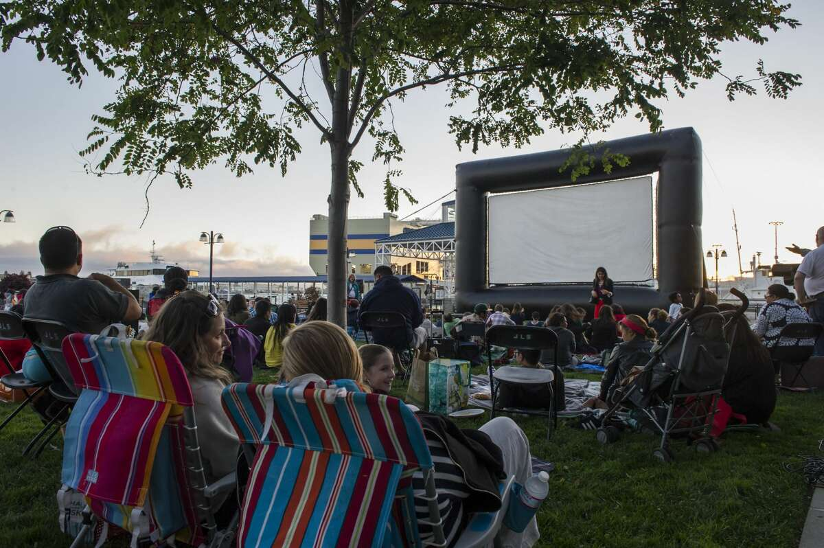 Jack London Square Oakland's Jack London Square hosts Waterfront Flicks on Thursdays throughout the summer. Get there early to play trivia games or take in the waterfront. Next four movies: