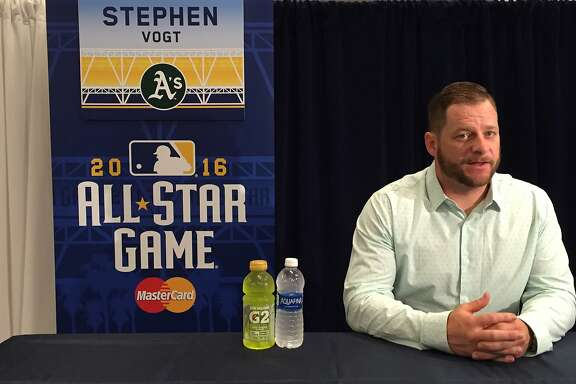 Stephen Vogt of the Oakland Athletics in San Diego for the All-Star Game.