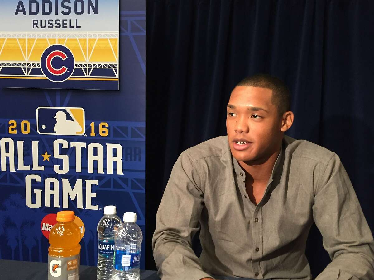 Addison Russell of the Chicago Cubs at the All-Star Game in San Diego.