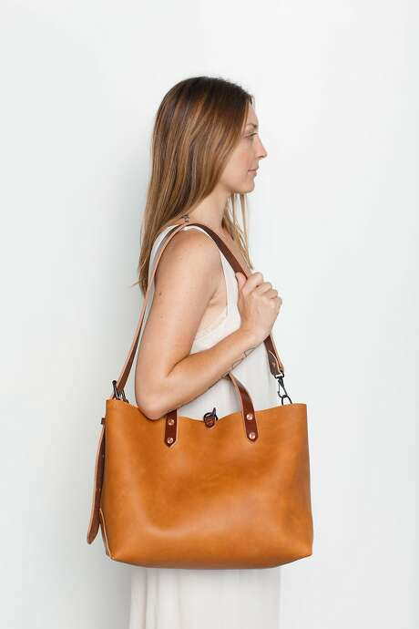 Joshu + Vela, a Mission District handbag and accessories maker, is known for its sturdy construction and use of American-tanned leathers. This boat tote runs $550 at www.joshuvela.com. Photo: Chung Li, Joshu + Vela
