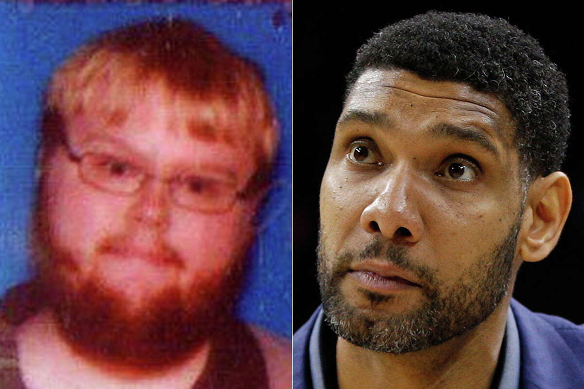 A Twitter user named Tim Duncan (left) got plenty of congratulatory Monday after former Spurs star Tim Duncan announced his retirement. Click through the gallery to see other Twitter users who get mistaken for sports figures.