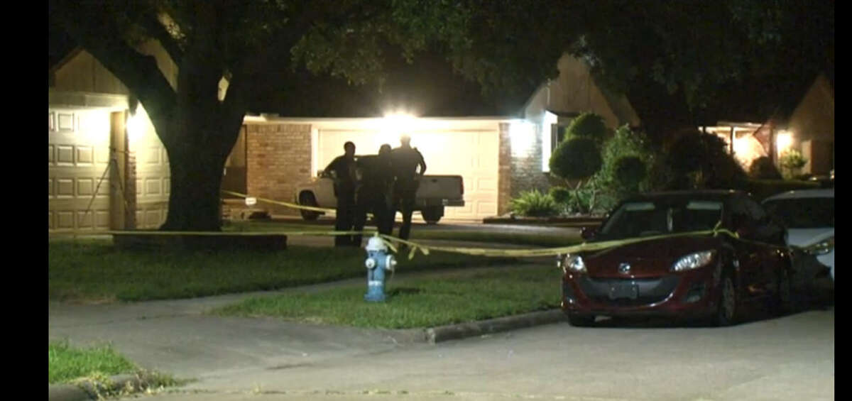 One man died and two others were wounded in what police say was a likely a drug-related shooting about 8 p.m. Monday, July 11, 2016, at a home in the 6200 block of Brown Bark in northwest Houston. (Metro Video)
