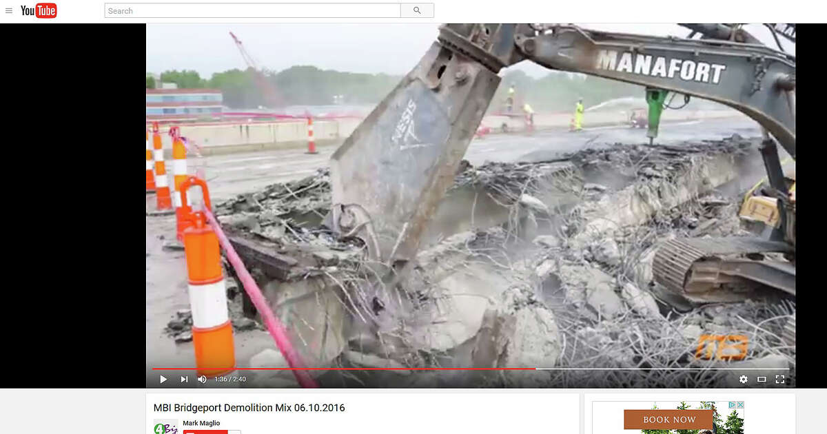 Manafort Brothers International has brought the demolition of Route 8/25 bridges to YouTube.