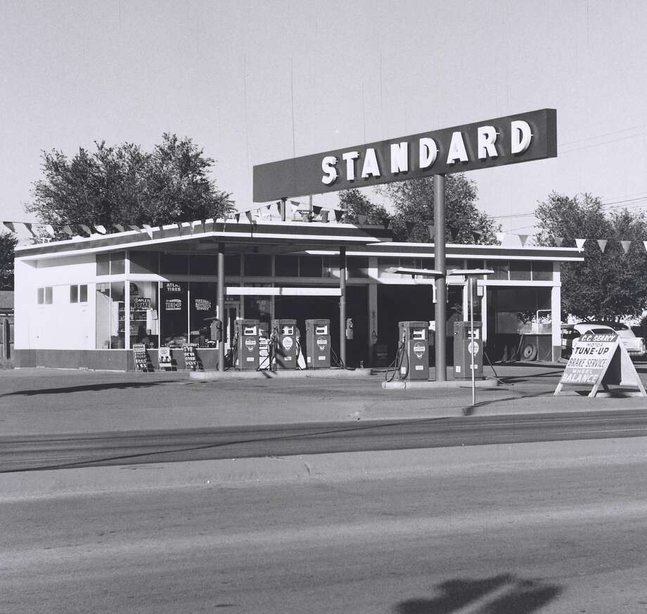 "Ed Ruscha, ""Standard Station, Amarillo, Texas"" (1962). Photograph (gelatin silver print). Photo: Randy Dodson, Whitney Museum Of American Art"