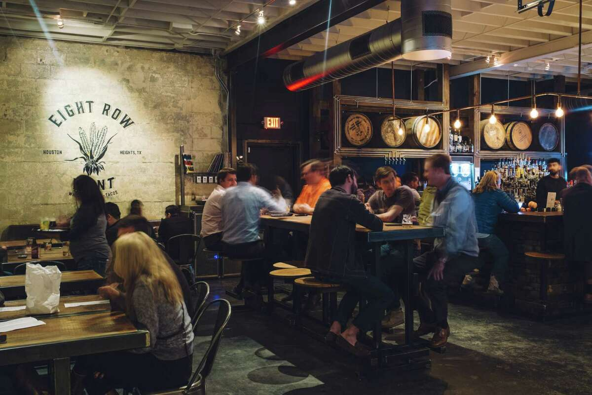Eight Row Flint, described by owners Ryan Pera and Morgan Weber as a revisionist ice house, is at once nostalgic and modern, combining the traditions of the past with modern elements.