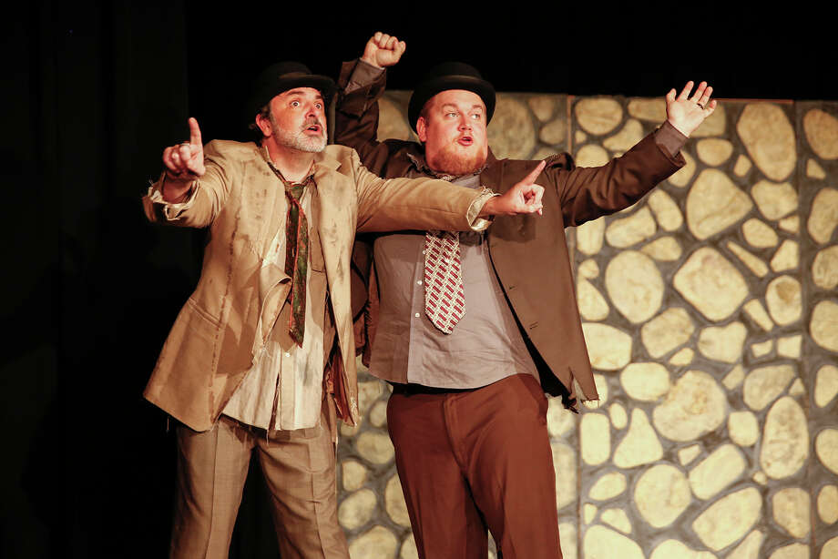 """Andy Midkiff as Estragon and Gregory Magyar as Vladimir  rehearse for Katy Visual & Performing Arts Center's production of """"Waiting for Godot.""""  Photo: Diana L. Porter, Freelance / © Diana L. Porter"""