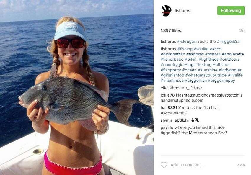 @FishBras on Instagram is serving up photos of fish and females daily in the account's digital summary of the