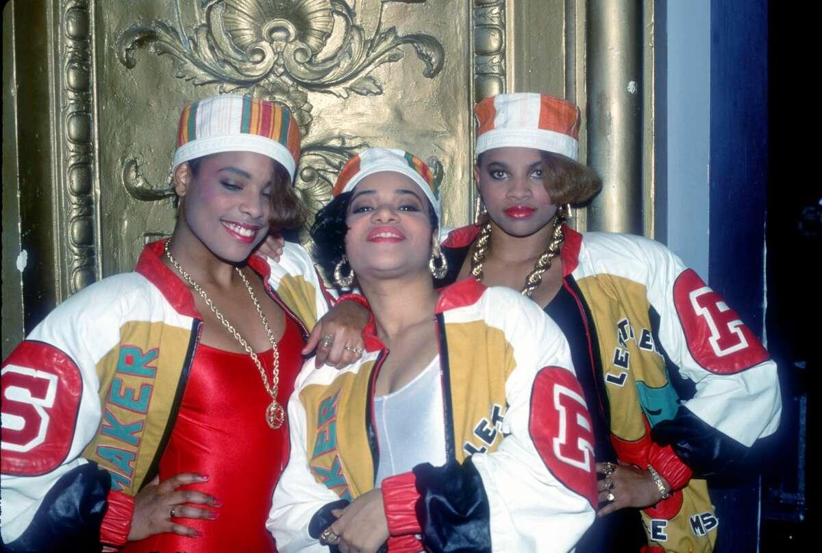 Salt n Pepa with DJ Spinderella in 1988