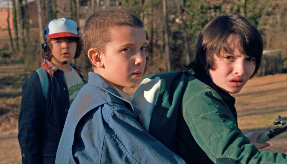 Millie Bobby Brown, Gaten Matarazzo, Finn Wolfhard Photo: Netflix / Netflix /