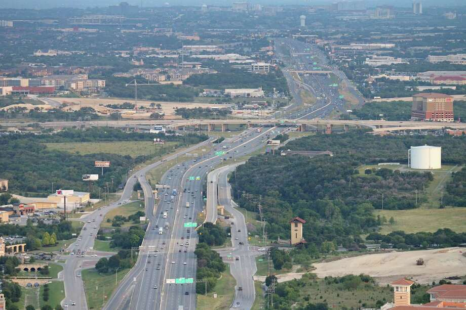 Interstate 10 is being expanded from Loop 1604 to FM 3351. Shown is the area at I-10 and Loop 1604 in 2016, before the project was started. Photo: Staff File Photo / © 2016 San Antonio Express-News