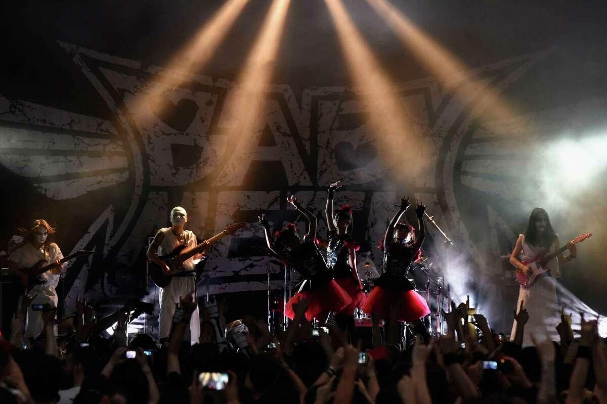 Babymetal in June 2015 in Bologna, Italy.