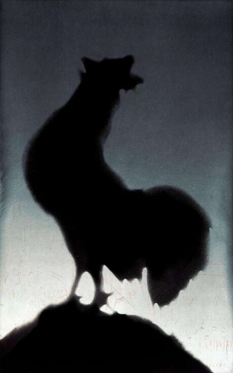 "Ed Ruscha 1988 ""Rooster"" aquatint Photo: Crown Point Press"